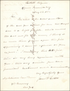 MAJOR GENERAL JAMES B. RICKETTS - AUTOGRAPH LETTER SIGNED 05/23/1862