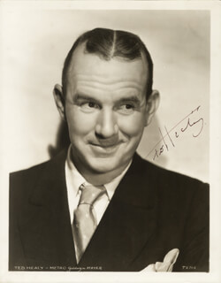 TED HEALY - AUTOGRAPHED SIGNED PHOTOGRAPH CIRCA 1936