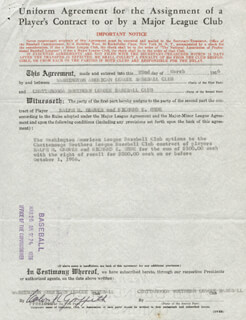 CALVIN R. GRIFFITH - CONTRACT SIGNED 03/22/1956