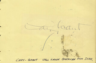 CARY GRANT - AUTOGRAPH CO-SIGNED BY: GODFREY WINN