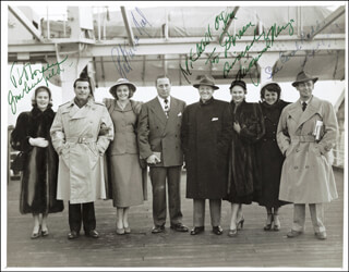ALAN LADD - AUTOGRAPHED INSCRIBED PHOTOGRAPH CO-SIGNED BY: PATRICIA NEAL, VIRGINIA MAYO, JOAN CAULFIELD, MICHAEL O'SHEA
