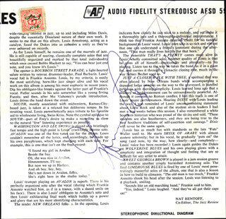 Autographs: LOUIS SATCHMO ARMSTRONG - RECORD ALBUM COVER SIGNED