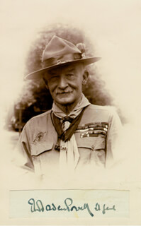 Autographs: ROBERT BADEN-POWELL - SIGNATURE(S)