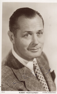 ROBERT MONTGOMERY - PICTURE POST CARD SIGNED