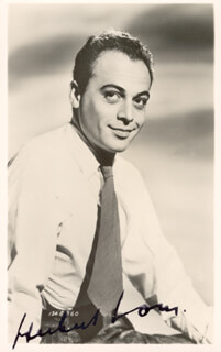 HERBERT LOM - AUTOGRAPHED SIGNED PHOTOGRAPH CIRCA 1948