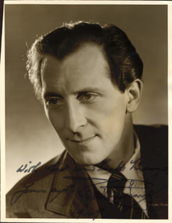 PETER CUSHING - AUTOGRAPHED INSCRIBED PHOTOGRAPH