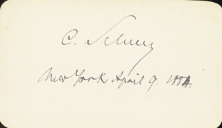 Autographs: MAJOR GENERAL CARL SCHURZ - SIGNATURE(S) 04/09/1884