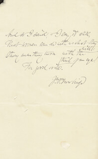 JOHN TOWNSEND TROWBRIDGE - AUTOGRAPH QUOTATION SIGNED
