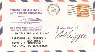 JUDITH A. JUDY RESNIK - COMMEMORATIVE ENVELOPE SIGNED CO-SIGNED BY: CAPTAIN ROBERT BOB CRIPPEN