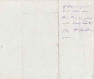 PRESIDENT THEODORE ROOSEVELT - AUTOGRAPH QUOTATION UNSIGNED
