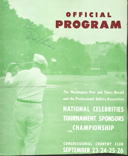 BOB MATHIAS - PROGRAM COVER SIGNED