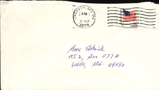 EUDORA WELTY - AUTOGRAPH ENVELOPE UNSIGNED CIRCA 1978