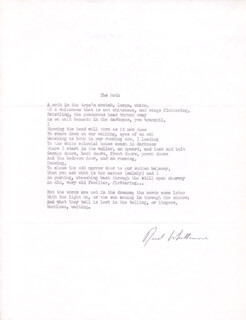 REED WHITTEMORE - POEM SIGNED