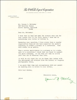 Autographs: JAMES A. FARLEY - TYPED LETTER SIGNED