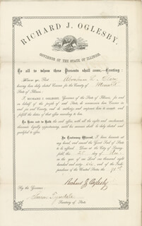 Autographs: MAJOR GENERAL RICHARD J. OGLESBY - CIVIL APPOINTMENT SIGNED 11/28/1866