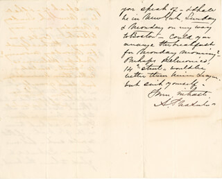 MAJOR GENERAL ALFRED PLEASONTON - AUTOGRAPH LETTER SIGNED 05/02/1871