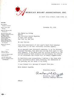 Autographs: REAR ADMIRAL RICHARD E. BYRD - TYPED LETTER SIGNED 11/28/1956
