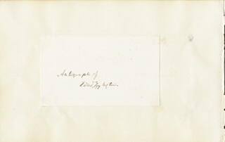 EDWARD EGGLESTON - AUTOGRAPH