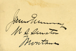 JAMES EDWARD MURRAY - AUTOGRAPH
