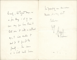 Autographs: JOHN (9TH DUKE OF ARGYLL) CAMPBELL - AUTOGRAPH LETTER SIGNED 06/02/1910