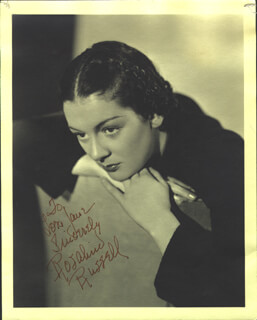 ROSALIND RUSSELL - AUTOGRAPHED INSCRIBED PHOTOGRAPH 04/22/1935