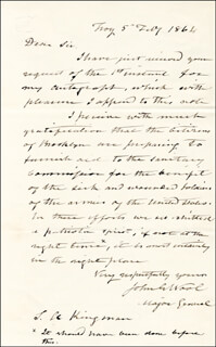MAJOR GENERAL JOHN E. WOOL - AUTOGRAPH LETTER SIGNED 02/05/1864