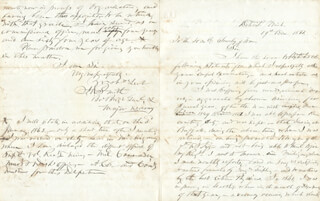 GENERAL JOSEPH ROWE SMITH - AUTOGRAPH LETTER SIGNED 12/19/1866