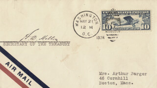 ANDREW MELLON - ENVELOPE SIGNED CIRCA 1928