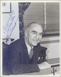 MAJOR EDWARD V. EDDIE RICKENBACKER - AUTOGRAPHED INSCRIBED PHOTOGRAPH