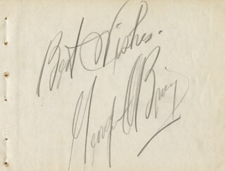 GEORGE O'BRIEN - AUTOGRAPH SENTIMENT SIGNED