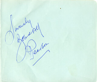 MY BROTHER AND I (BOB PEARSON) - AUTOGRAPH SENTIMENT SIGNED