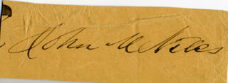 Autographs: JOHN M. NILES - CLIPPED SIGNATURE