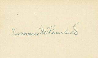 SHERMAN M. FAIRCHILD - AUTOGRAPH