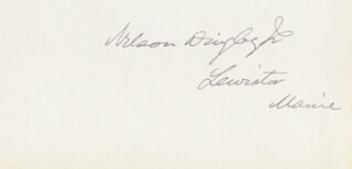 NELSON DINGLEY JR. - AUTOGRAPH