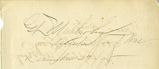 GEORGE DE RUE MEIKLEJOHN - AUTOGRAPH 12/27/1898 CO-SIGNED BY: REAR ADMIRAL RICHARD P. LEARY
