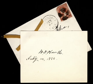 WILLIAM D. HOWELLS - AUTOGRAPH 02/14/1886