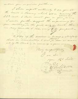 JAMES M. MASON - MANUSCRIPT LETTER SIGNED 05/03/1826