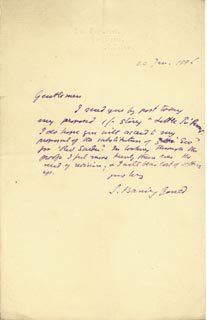 SABINE BARING-GOULD - AUTOGRAPH LETTER SIGNED 01/20/1886