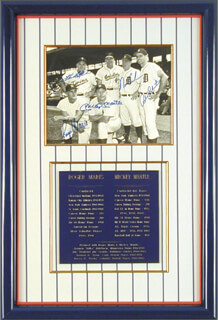 ROGER MARIS - AUTOGRAPHED SIGNED PHOTOGRAPH CO-SIGNED BY: HARMON KILLEBREW, NORM CASH, ROCKY COLAVITO, MICKEY MANTLE