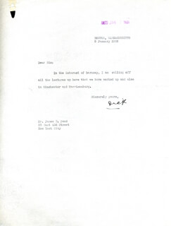 Autographs: REAR ADMIRAL RICHARD E. BYRD - TYPED LETTER SIGNED 01/05/1932