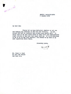 REAR ADMIRAL RICHARD E. BYRD - TYPED LETTER SIGNED 01/08/1932