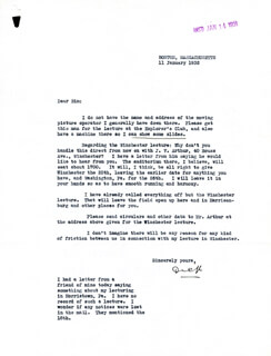 Autographs: REAR ADMIRAL RICHARD E. BYRD - TYPED LETTER SIGNED 01/11/1932
