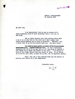 Autographs: REAR ADMIRAL RICHARD E. BYRD - TYPED LETTER SIGNED 01/12/1932