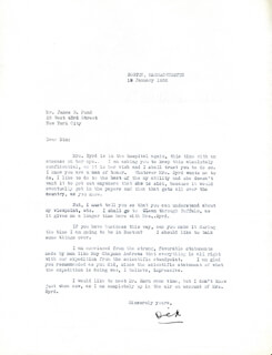 Autographs: REAR ADMIRAL RICHARD E. BYRD - TYPED LETTER SIGNED 01/19/1932