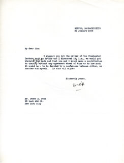 Autographs: REAR ADMIRAL RICHARD E. BYRD - TYPED LETTER SIGNED 01/20/1932