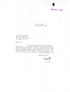 Autographs: REAR ADMIRAL RICHARD E. BYRD - TYPED LETTER SIGNED 12/26/1931