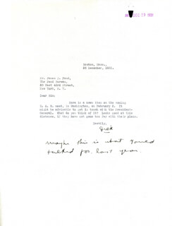 REAR ADMIRAL RICHARD E. BYRD - TYPED LETTER SIGNED 12/26/1931