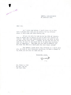 Autographs: REAR ADMIRAL RICHARD E. BYRD - TYPED LETTER SIGNED 12/21/1931