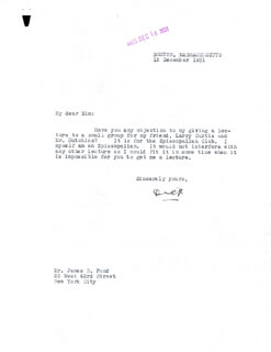 Autographs: REAR ADMIRAL RICHARD E. BYRD - TYPED LETTER SIGNED 12/12/1931