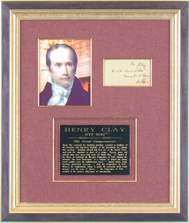 HENRY CLAY - FREE FRANK SIGNED